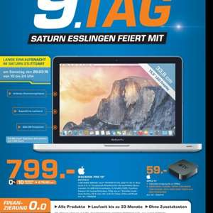 "(Lokal Stuttgart) Saturn: Macbook Pro 13"" MD/101D"