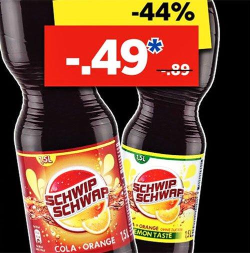 SCHWIP SCHWAP 1,5 l für 49 Cent ab Mittwoch den 1.4.2015 bei [ Lidl ]