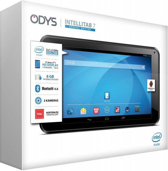 """Odys™ - 7"""" Tablet-PC """"Intellitab 7"""" (Atom Z2520 2x1.20Ghz,1024x600,1/8GB RAM,Android 4.4) für €49.- [@Redcoon.de]"""