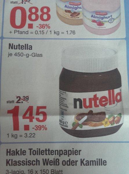 [V-Markt] Nutella 450g 1,45€ 26.03.-01.04. bundesweit
