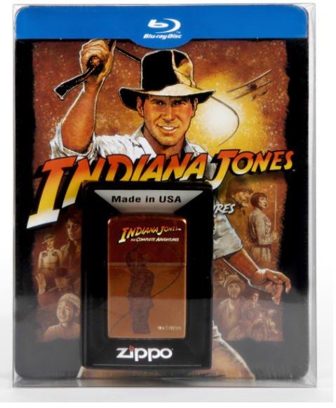 Indiana Jones – The Complete Adventures: Limitiertes Steelbook inkl. Zippo - (5 Blu-ray) für 29€ bei Saturn online