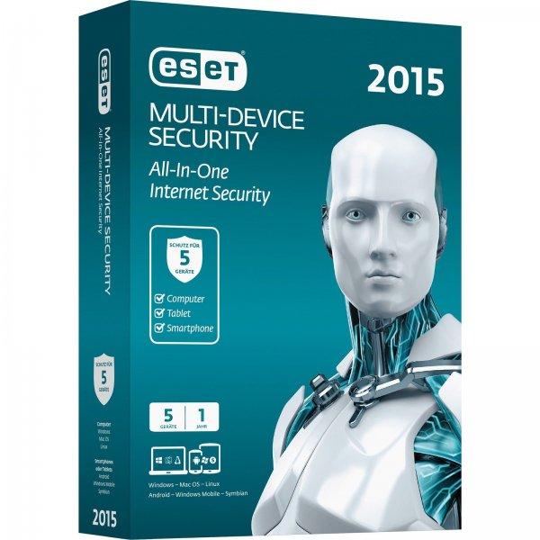 [Ebay WOW] ESET Multi Device Security 2015 - 5 Geräte - 1 Jahr - 24,95€