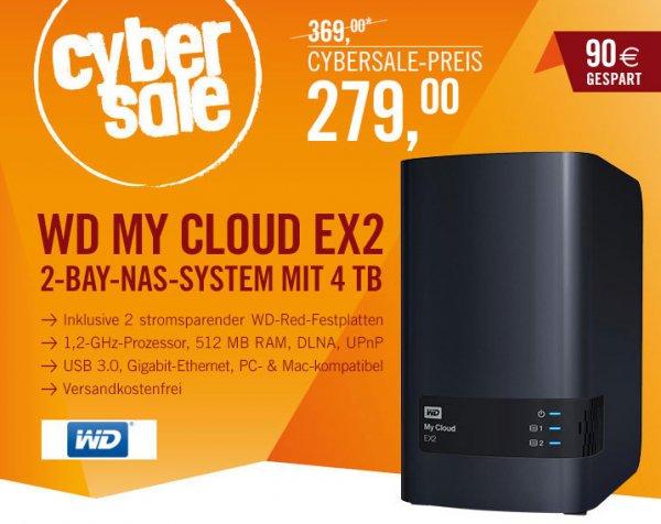 WD My Cloud EX2 Gigabit NAS System 2-Bay 4TB (2x2TB WD RED)