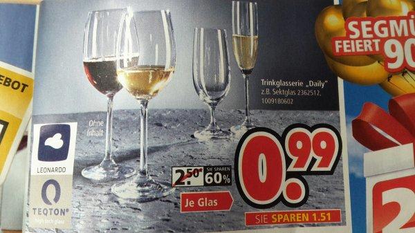 "(lokal) Segmüller Weiterstadt Leonardo Trinkglasserie ""Daily"": 0,99€ pro Glas"