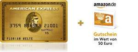 American Express Gold + 50€ Amazon Gutschein + 40€ Cashback über qipu