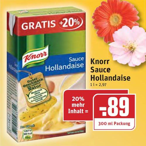 Sauce Hollandaise in der Sondergröße 300ml [REWE]