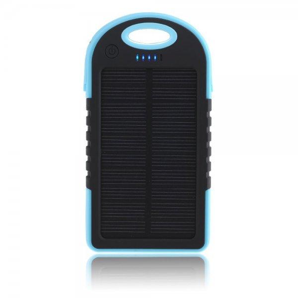 wasserdichte,stoßfeste, staubdichte 5000MAH Solar Powerbank für 12,74€ ohne VSK!