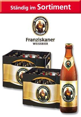 2 Kasten Franziskaner Weissbier Norma Ulm [Lokal]