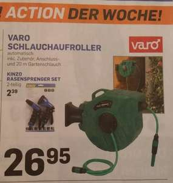 [Lokal Action] Varo Schlauchaufroller 20m