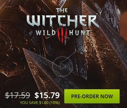 [PC] The Witcher III: Wild Hunt 14,52€ statt 31,67€ (VPN nur zum Kauf) @ GoG