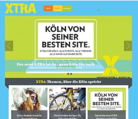 Köln :  XTRA die junge gratis  Zeitung für Köln - jetzt mit gratis APP und bald mit gratis Samstag Print Ausgabe
