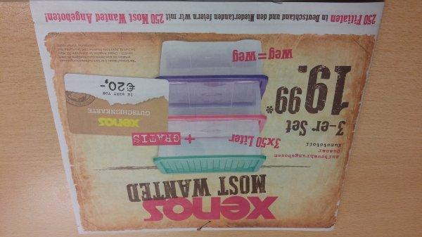 3er Set Aufbewahrungsboxen + 20€ Gutschein für 19,99 @Xenos (offline)