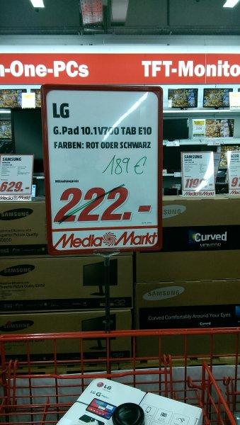 LG G Pad 10.1 V700 189€ [Lokal Berlin-Charlottenburg @Media Markt]