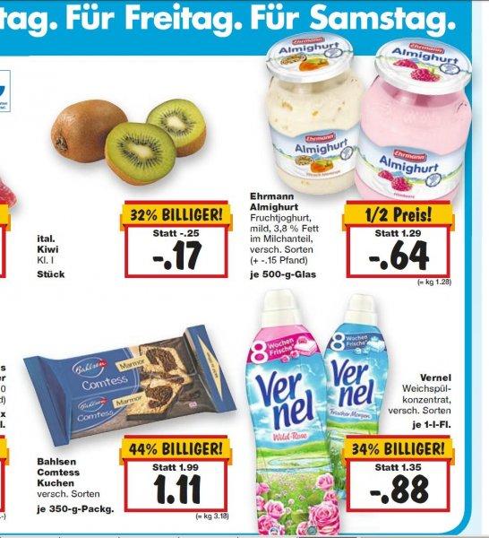 Kaufland Superweekend (Nur noch heute!) 2 Flaschen Vernel Soft & Oils für 0,76€