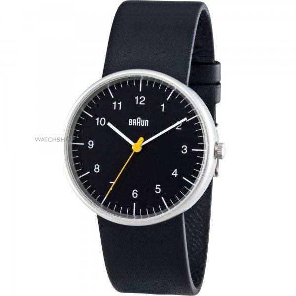 [Amazon] Braun Herren-Armbanduhr XL Leder Analog Quarz Leder BN0021BKBKG für 62,99€