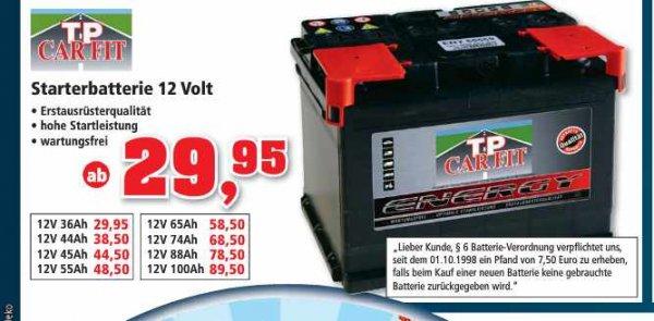 Wieder Autobatterien bei Thomas Philipps ab 29,95€ [lokal]