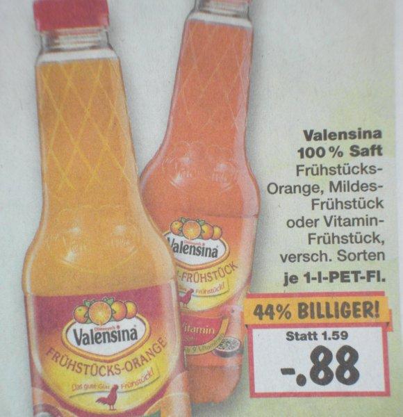 [Kaufland) Valensina Saft 100%  für 0,88Euro