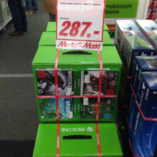 XBOXONE + 4 Spiele im Media Markt Magdeburg am Pfahlberg für 287€