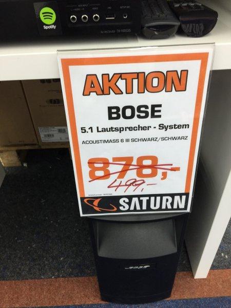 [Lokal Saturn Moers] Bose Acoustimass 6 III schwarz (5.1. Lautsprechersystem) für 499€