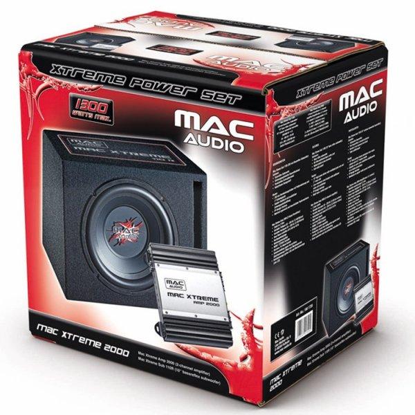 Mac Audio Xtreme 2000 Subwoofer-/Endstufenset für 79,- EUR nur dieses Wochenende (inkl. Sonntag) bei Saturn Hanau