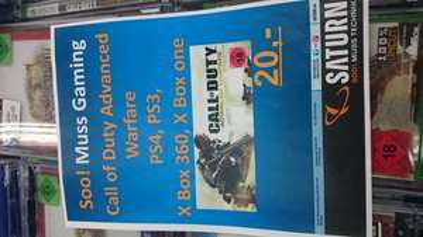 (lokal) Saturn Potsdam: Call of Duty Advanced Warfare für alle Konsolen 20 €