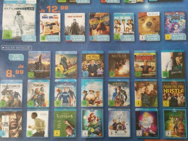 Saturn Kleve vlt Bundesweit? Blu-ray Bestseller für je 8,99€ u.a. mit Marvel & Disney