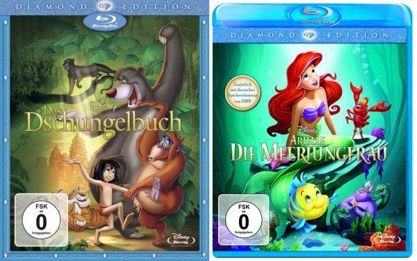 Amazon/Saturn Arielle & Dschungelbuch Diamond Edition Blu-ray 8.90/ bzw. 8.99€
