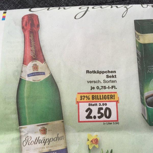 Rotkäppchen Sekt 2,5€ Kaufland in Ulm