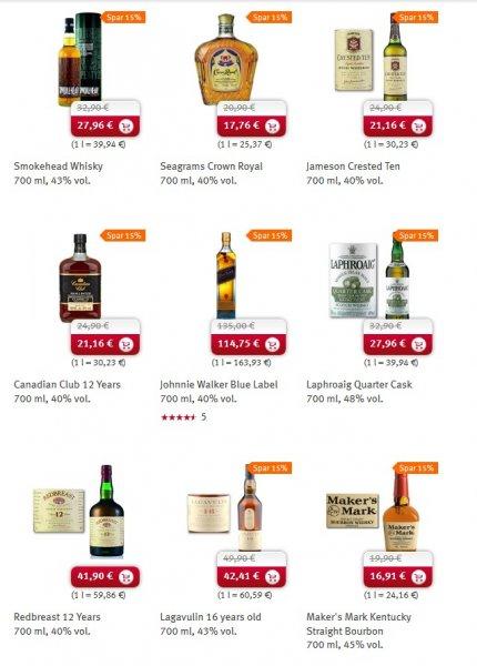 Rossmann online - Spirituosen 15% reduziert