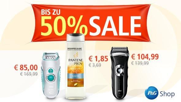 P&G Shop - Ausverkauf bis 50% und Versandkostenfrei ohne MBW!