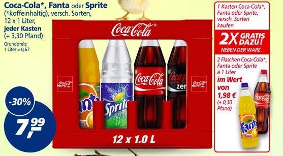 [Real] 1 Kiste Coca Cola + 2 Flaschen gratis für 7,99 zzgl. Pfand