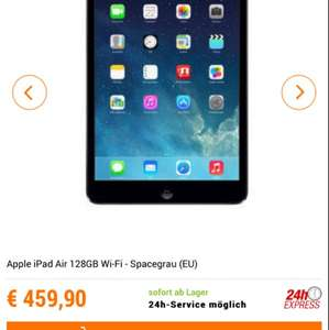 Apple iPad Air 128 gb space für 460€ @NBB