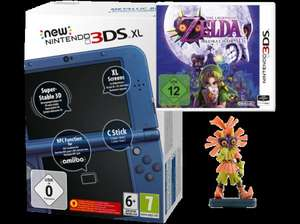New Nintendo 3DS XL Metallic Blau inkl. The Legend of Zelda: Majora's Mask 3D + Zelda Figur