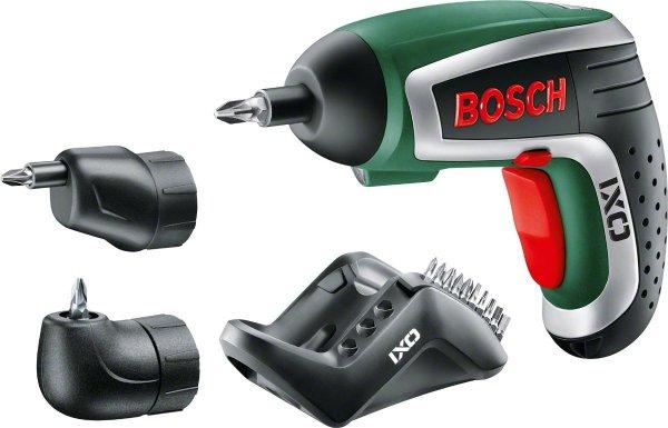 Bosch IXO IV Upgrade Set (inkl. Winkel- u. Exzenteraufsatz) + 10 Standard-Schrauberbits für 44,60€ @voelkner.de