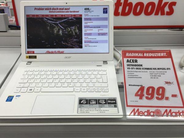 """Acer Ultrabook weiß mit 13"""" Full HD und 240 GB SSD (Media Markt Köln Chorweiler)"""