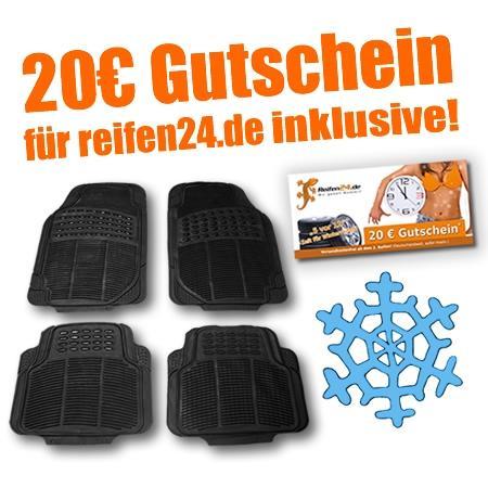 20€ Gutschein für Reifenkauf + Autofußmatten + Versandfrei