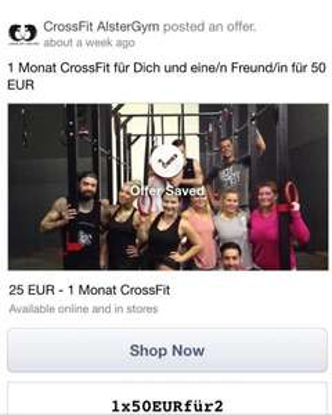 1 Monat Crossfit zu zweit in Hamburg für 50€