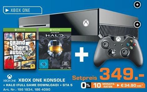 Xbox One 500GB + GTA V + Halo MCC (DLC) @ Saturn