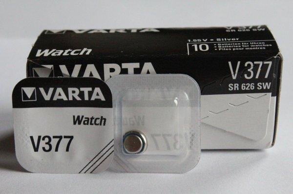 10 x Batterien-Knopfzellen Varta AG4 V377 SR 626 SW SR66 377 bis 2018 / 4,80.-€