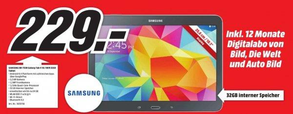 [lokal Augsburg] SAMSUNG Galaxy Tab 4 10.1 SM-T530N 32GB inkl. 12 Monate Digitalabo von BILD, DIE WELT und AUTO BILD für 229€ @ MM