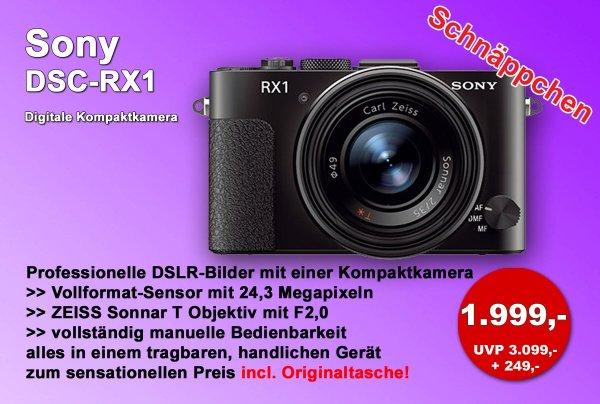 Sony DSC-RX1 Digitale Kompaktkamera für 1.999€ (lokal in Bayern)