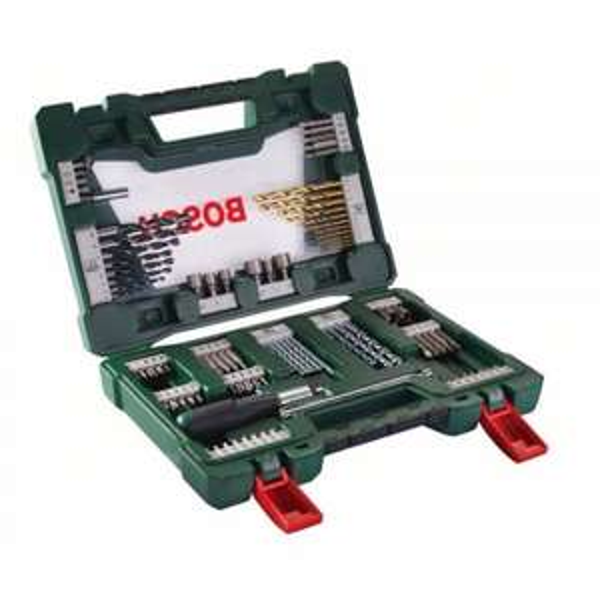BOSCH V-Line TiN-Bohrer- und Bit-Set, 91-teilig mit Ratsche und Magnetstab für 25€ auf eBay