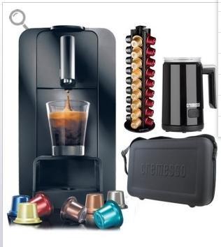 (Netto)Cremesso Compact One Komplettpaket (Maschine+Ständer+Milchaufschäumer+Tasche+160 Kapseln GRATIS dazu)für 69.99€ versandkostenfrei nur online