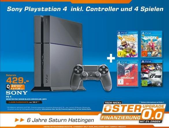 [Lokal Hattingen] Saturn PS4 + 4 Spiele 429€