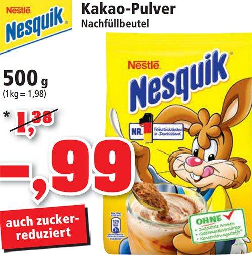 Nesquik Original 500g nochmal reduziert zum neuen Bestpreis 99 Cent! [ Philipps ]