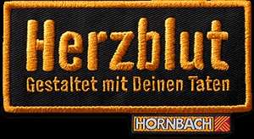 """Hornbach """"Herzblut"""" Abzeichen kostenlos ab 13.04.2015 bei Hornbach"""