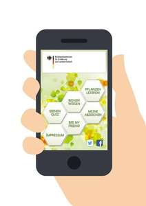 Die App für Bienenfreunde  - vom Bundesministerium für Ernährung und Landwirtschaft