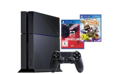 SONY PS4 Konsole 500GB schwarz inkl. DriveClub und LittleBigPlanet 3