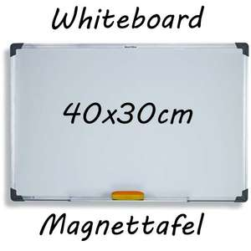 Whiteboard Schreibtafel 40x30 cm für 8,95€ (Ebay)