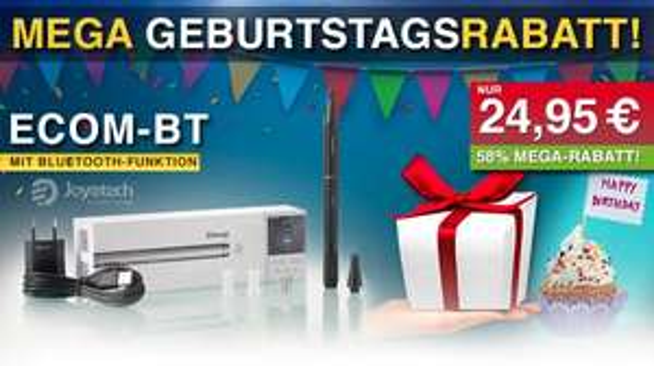 Joyetech eCom-BT (Bluetooth E-Zigarette E Zigarette) 650mAh Set nur 23,95€ statt 59,90€ (MrSmoke)